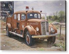 Mack Fire Truck  Acrylic Print