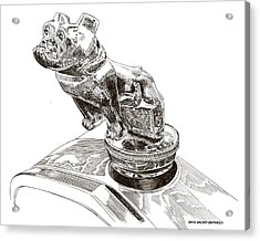 Mack Truck Bulldog Mascot Acrylic Print by Jack Pumphrey