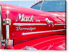 Mack Truck Hood Badges Acrylic Print
