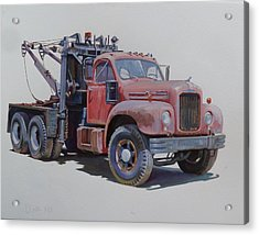 Mack Wrecker. Acrylic Print by Mike  Jeffries