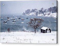 Mackerel Cove Snow Acrylic Print by Benjamin Williamson