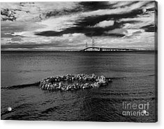 Mackinac Bridge - Infrared 03 Acrylic Print by Larry Carr