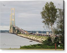 Mackinac Bridge Walk Acrylic Print