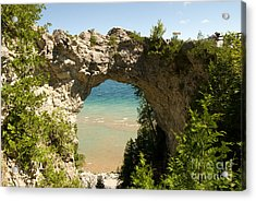 Mackinac Island Arch Acrylic Print by Larry Carr