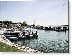 Mackinac Marina Art Acrylic Print