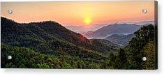 Macon County North Carolina Mountains Acrylic Print