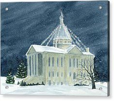 Macoupin County Illinois Courthouse Acrylic Print by Denise   Hoff