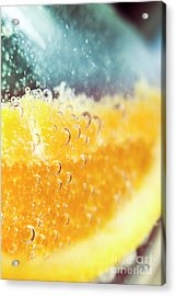 Macro Detail On A Club Orange Cocktail Acrylic Print by Jorgo Photography - Wall Art Gallery