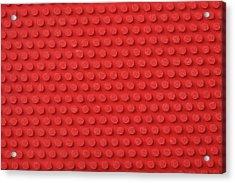 Macro Ping Pong Paddle Texture Acrylic Print by Nic Taylor