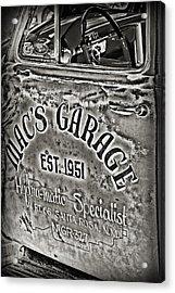 Macs Garage Acrylic Print