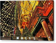 Macy's Christmas Lights Acrylic Print by Randy Aveille