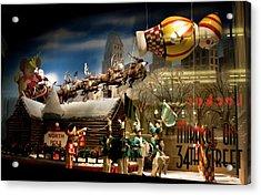 Macy's Miracle On 34th Street Christmas Window Acrylic Print