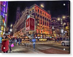Macy's Of New York Acrylic Print