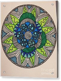 Mad Mandala Acrylic Print