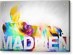 Mad Men Color Warp Acrylic Print by Dan Sproul
