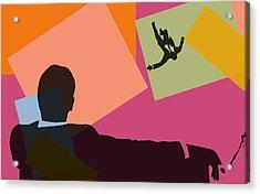 Mad Men Pop Art Acrylic Print by Dan Sproul
