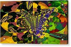 Madam B Fly Acrylic Print by Maria  Wall