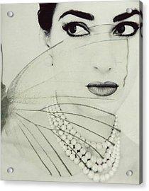 Madam Butterfly - Maria Callas  Acrylic Print