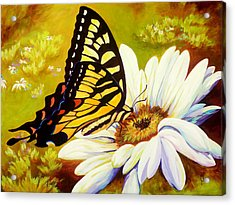 Madame Butterfly Acrylic Print by Karen Dukes
