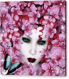 Madame Butterfly Acrylic Print by Shanina Conway