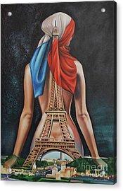 Madame Eiffel Acrylic Print