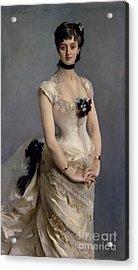 Madame Paul Poirson Acrylic Print by John Singer Sargent