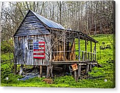 Made In The Usa Acrylic Print by Debra and Dave Vanderlaan