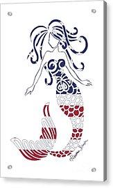Made In The Usa Tribal Mermaid Acrylic Print