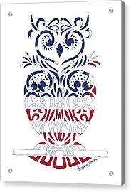 Made In The Usa Tribal Owl Acrylic Print
