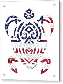 Made In The Usa Tribal Turtle Acrylic Print