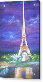 Madelein's France Acrylic Print by Becky Chappell