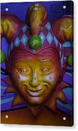Madi Gras Jester Acrylic Print by Garry Gay
