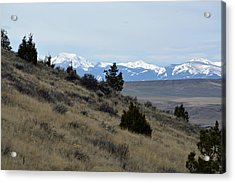 Madison Buffalo Jump State Park In Spring Acrylic Print by Bruce Gourley