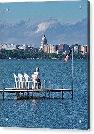 Madison Capitol Across Lake Mendota Acrylic Print