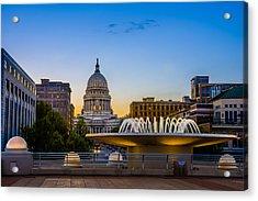 Madison Domes Acrylic Print by Mark Goodman