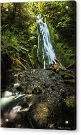 Acrylic Print featuring the photograph Madison Falls - An Elwha Sanctuary by Expressive Landscapes Fine Art Photography by Thom