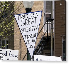 Madison Science March Sign 2 Acrylic Print