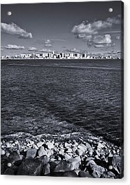 Madison Skyline - Black And White Acrylic Print by Steven Ralser