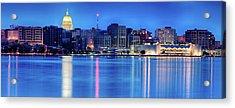 Madison Skyline Reflection Acrylic Print