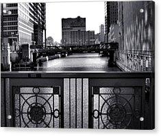 Madison Street Bridge - 3 Acrylic Print by Ely Arsha