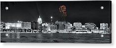Madison - Wisconsin - New Years Eve Fireworks 3 Acrylic Print