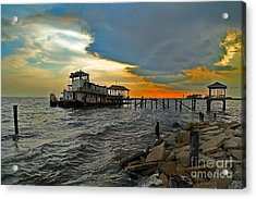 Acrylic Print featuring the photograph Madisonville Katrina Ghost Boat  by Luana K Perez