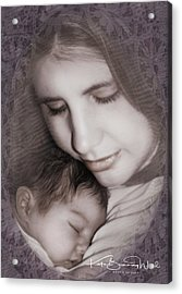Acrylic Print featuring the photograph Madonna And Child 3 by Kate Word