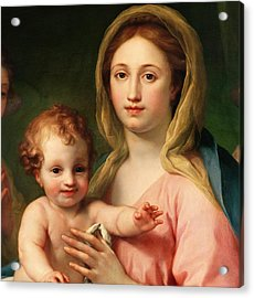 Madonna And Child Acrylic Print by Anton Raphael Mengs