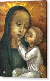 Madonna And Child Ausschnitt Acrylic Print by Ausschnitt