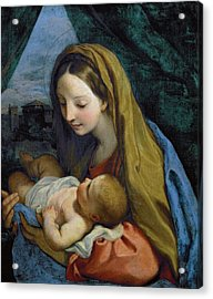 Acrylic Print featuring the painting Madonna And Child by Carlo Maratta