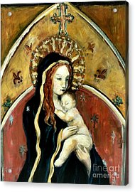 Madonna And Child Acrylic Print by Carrie Joy Byrnes