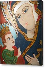 Madonna And Child Acrylic Print by Demetria Kelley