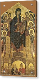 Madonna And Child Enthroned With Eight Angels Acrylic Print by Cimabue