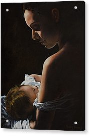Madonna And Child Acrylic Print by Harvie Brown
